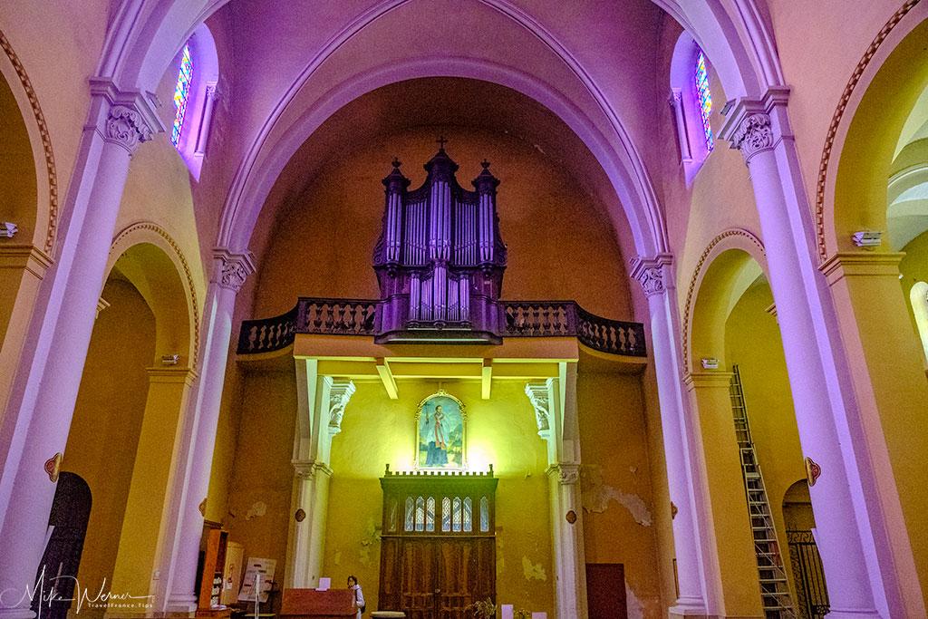 The organ of the Saint-Jean-Baptiste de Valence church