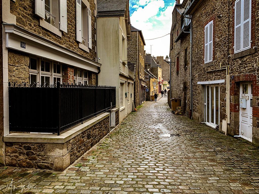 Cobblestone streets of Dinard'
