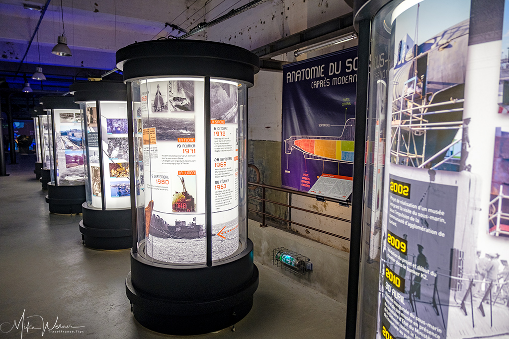 History display of the French submarines