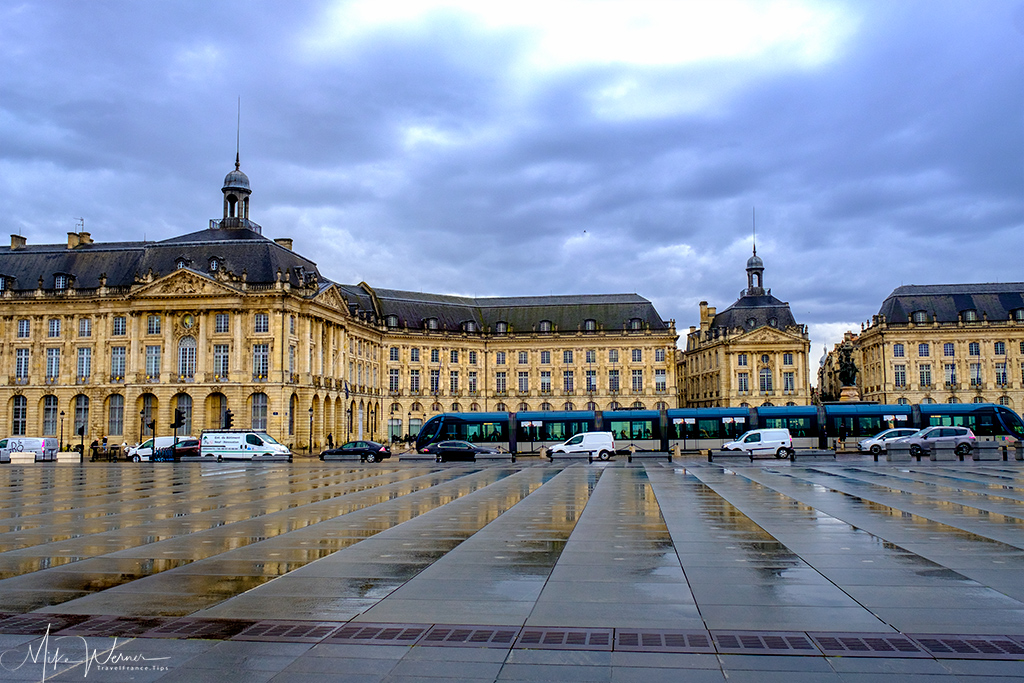 Museum on the Stock Exchange Square seen from the Water Mirror in Bordeaux