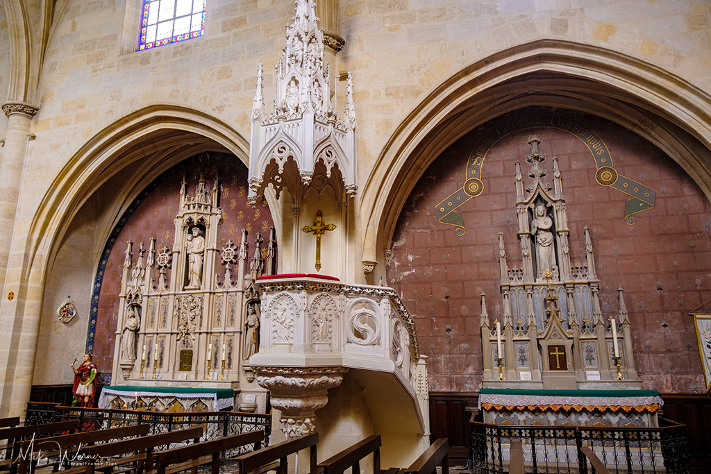 Pulpit of the Saint Eloy (Eloi) church in Bordeaux