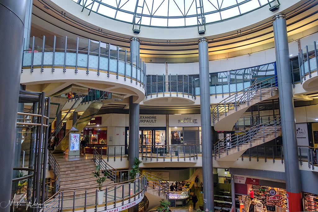 Inside shopping mall in Bordeaux