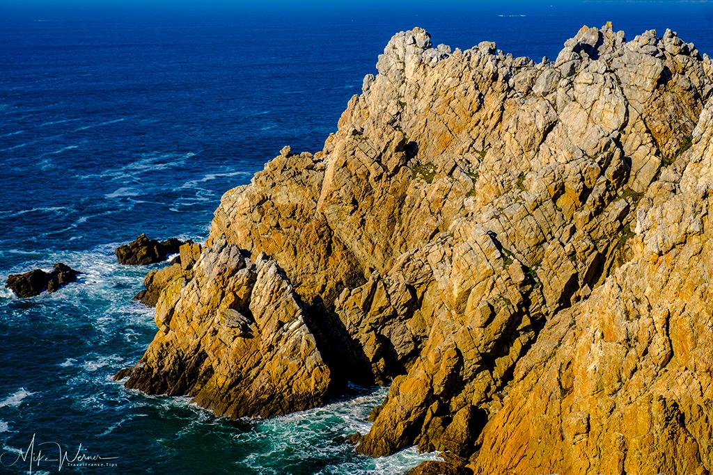 Cliffs close to Camaret-sur-Mer in Brittany