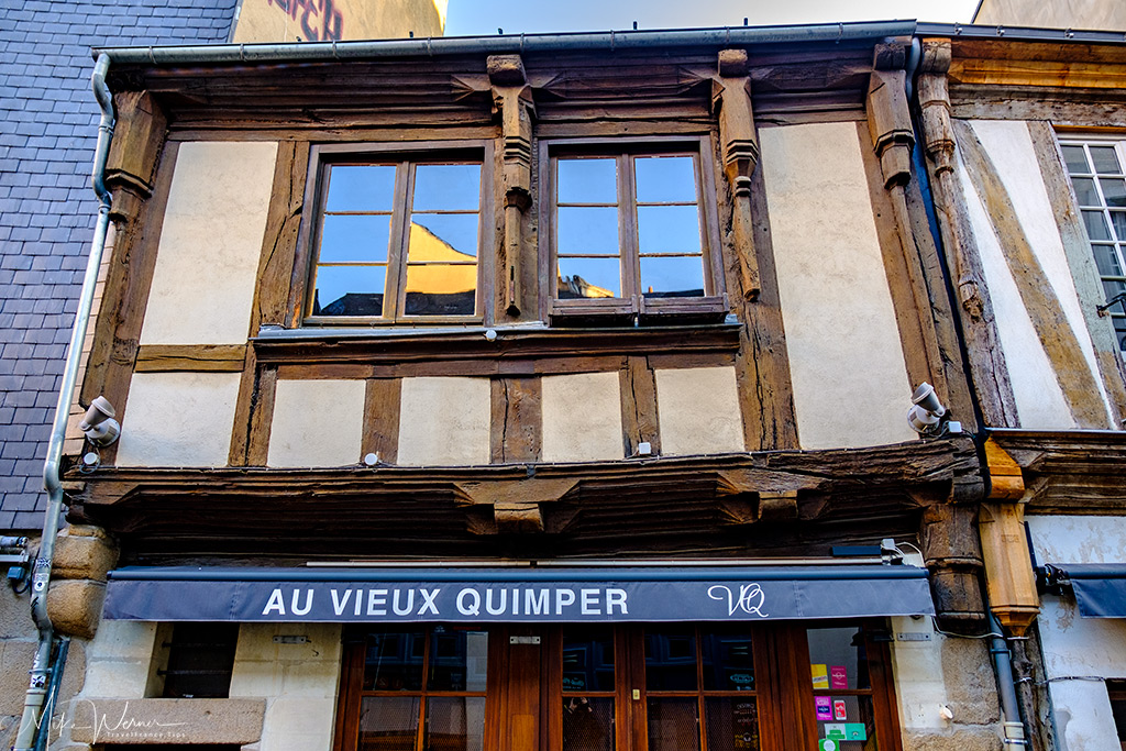 Old facade made out of wood in Nantes