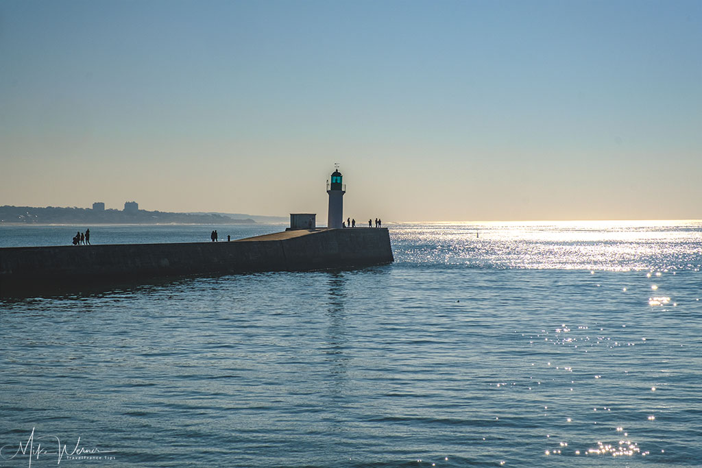 Left lighthouse at Les-Sables-d'Olonne