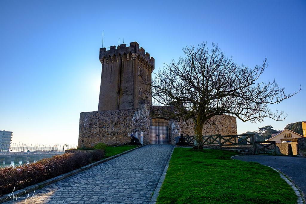 Access to the Saint-Clair castle at Les Sables-d'Olonne
