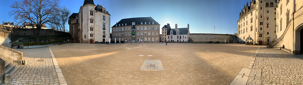 The courtyard of the Duke's castle in Nantes