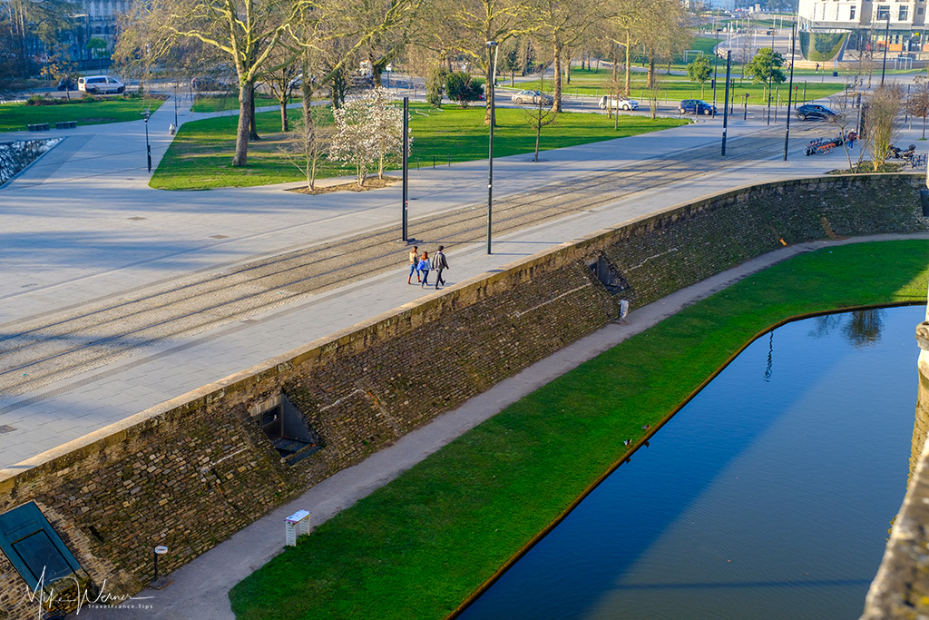 A little bit of water left in the moat of the Duke' castle in Nantes