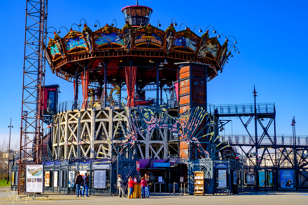The Marine Worlds Carousel on the Island of Nantes