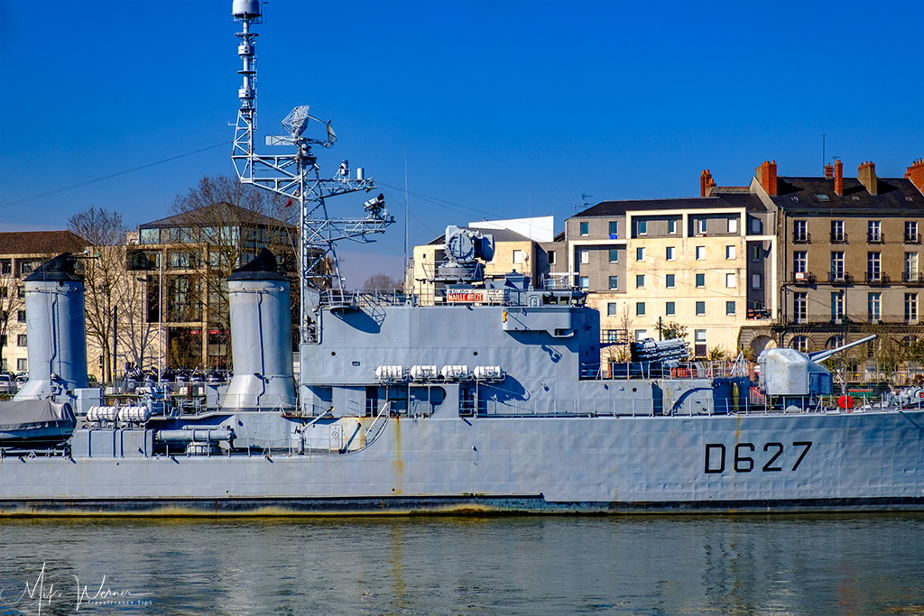 The French destroyer Maille-Breze in the Loire river in Nantes
