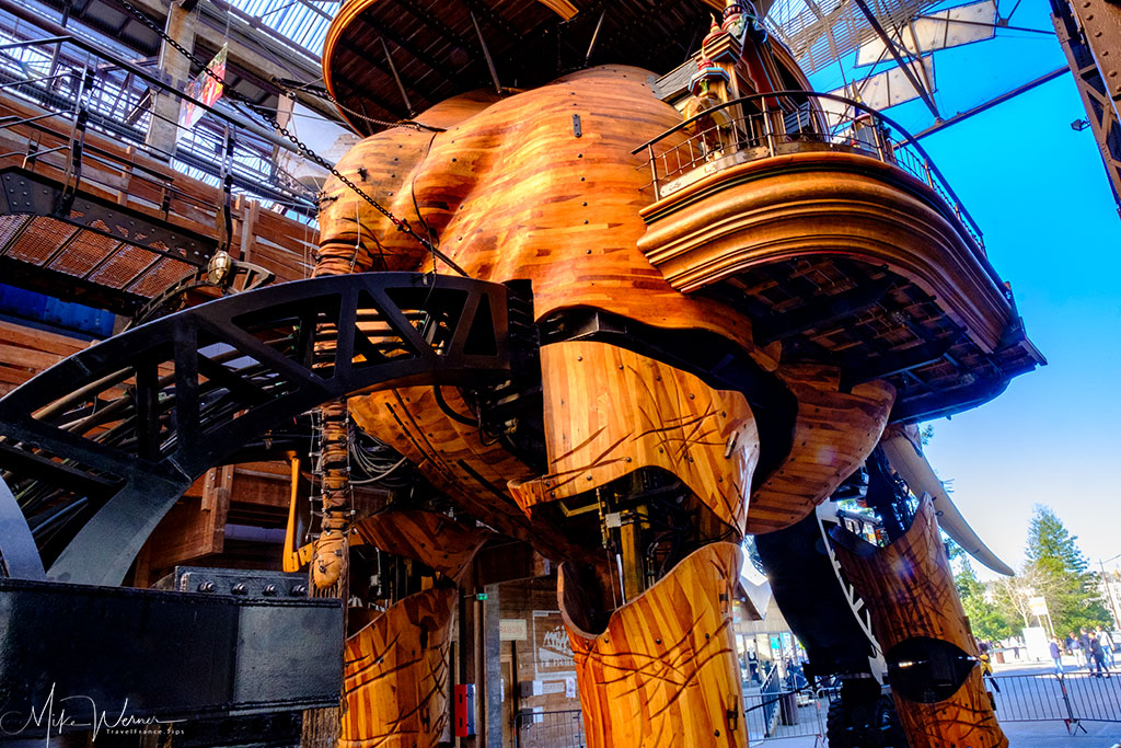 Rear portion of the steampunk elephant in Nantes