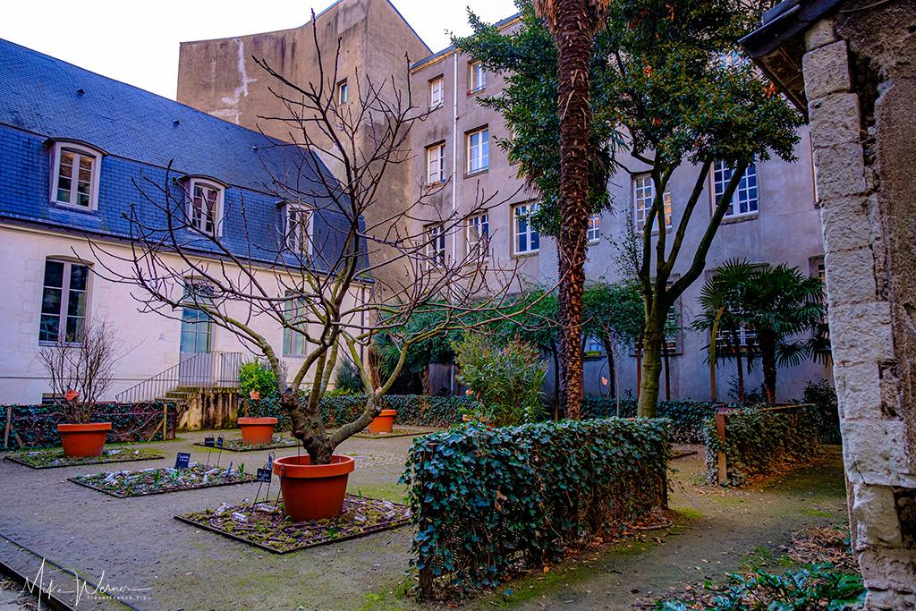 Sainte-Croix church gardens in Nantes