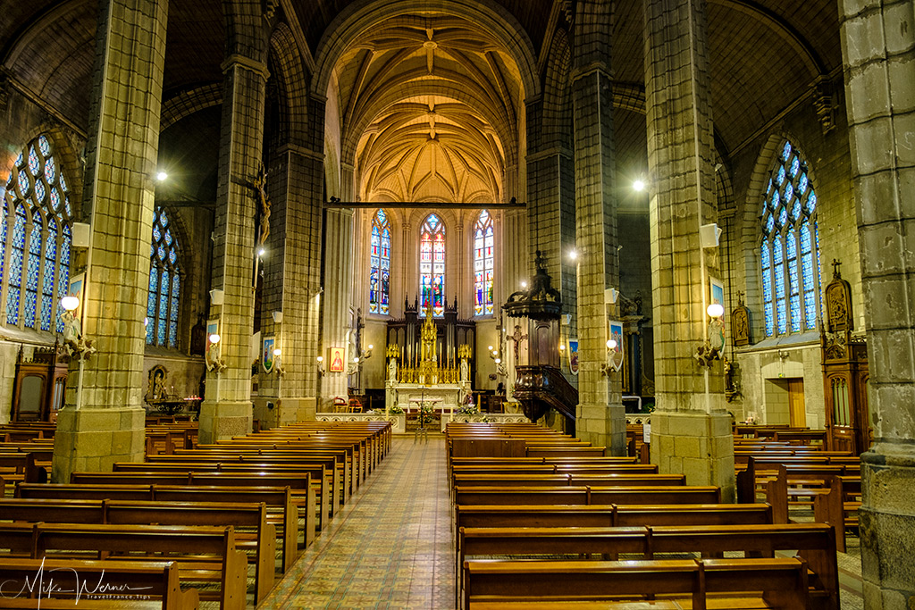 The main area of the St-Croix church in Nantes