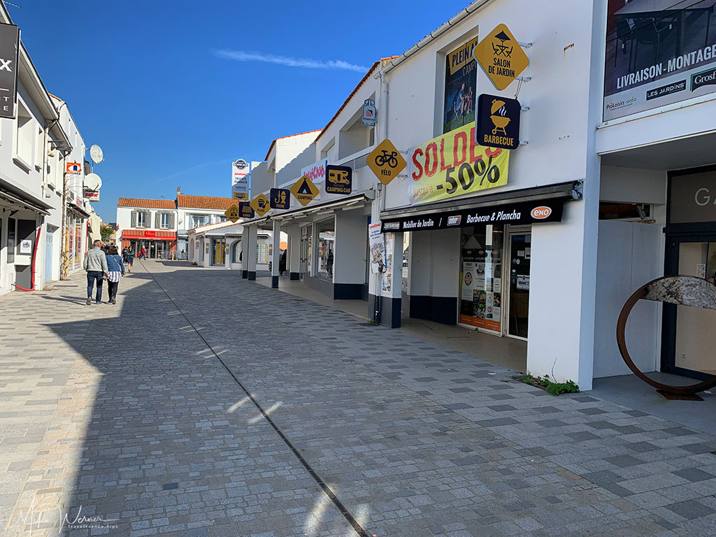Pedestrian street in Noirmoutier-en-l'Ile