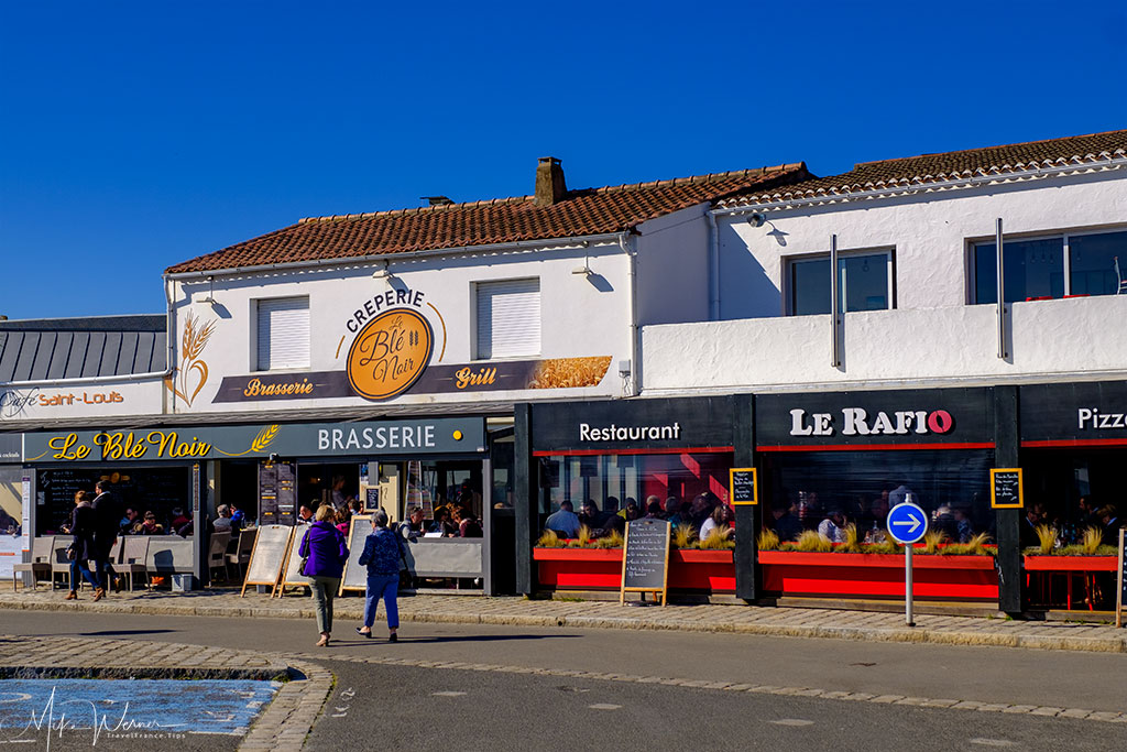 Several restaurants in Noirmoutier-en-l'Ile