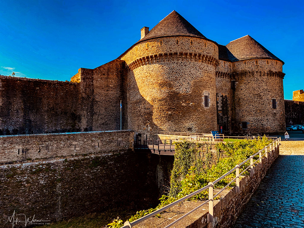 Main entrance to the Brest Castle in Brittany