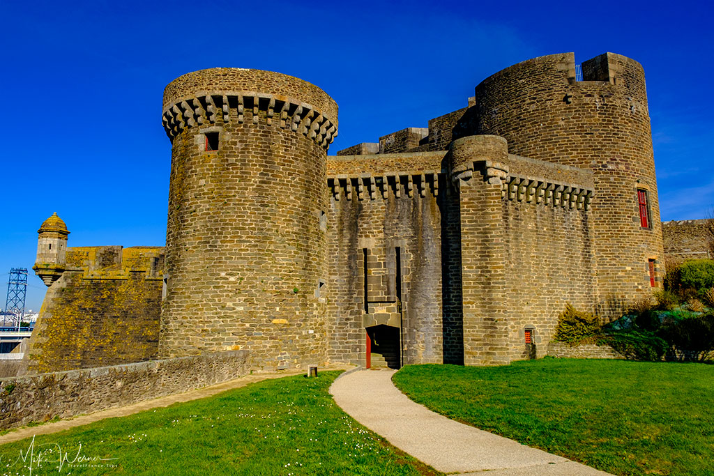 Entrance to the large building inside the Brest Castle/Fortress in Brittany