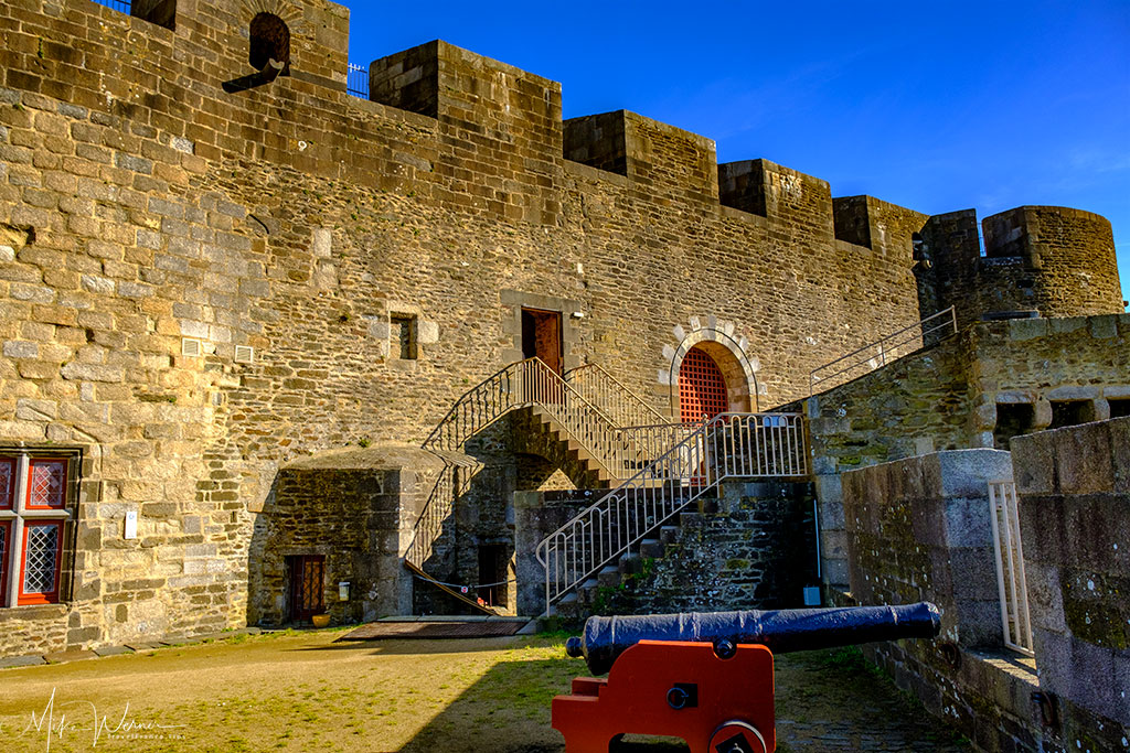 Multiple layers of defense of the Brest Castle/Fortress in Brittany