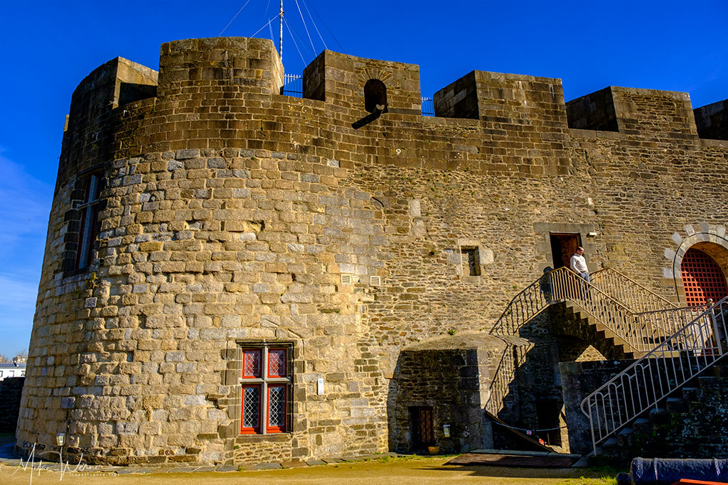 Multiple floors of the Brest Castle/Fortress in Brittany