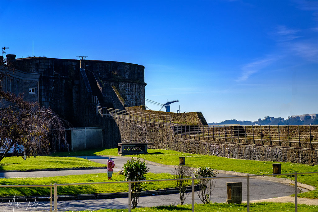 Very wide portion of the Brest Castle/Fortress in Brittany