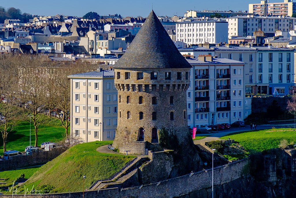 Close up of the Tour Tanguy as seen from the Brest Castle/Fortress in Brittany