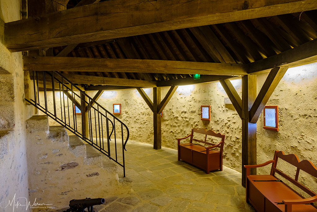 Inside the enormous round towers of the Brest Castle/Fortress in Brittany