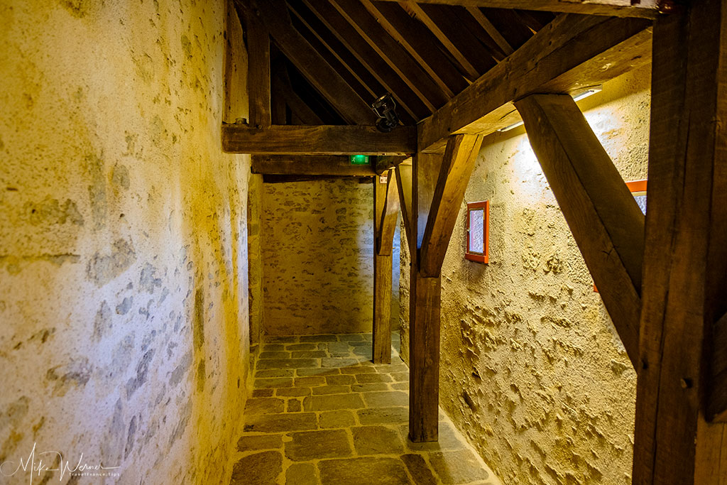 Narrow corridors Inside the Brest Castle/Fortress in Brittany