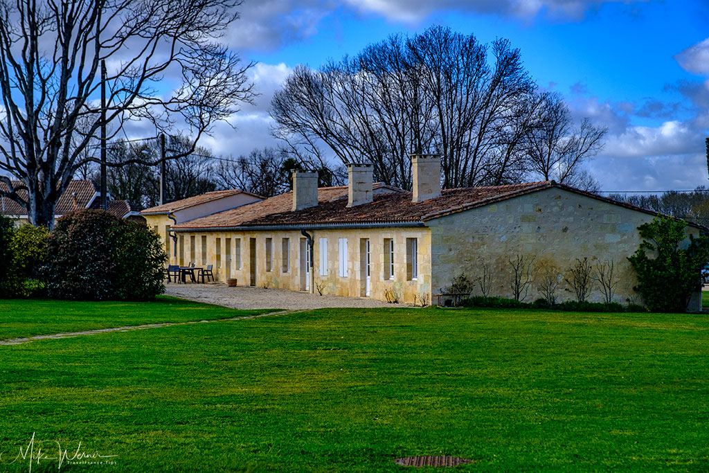 Production buildings of Chateau Dauzac at Labarde in the Margaux region