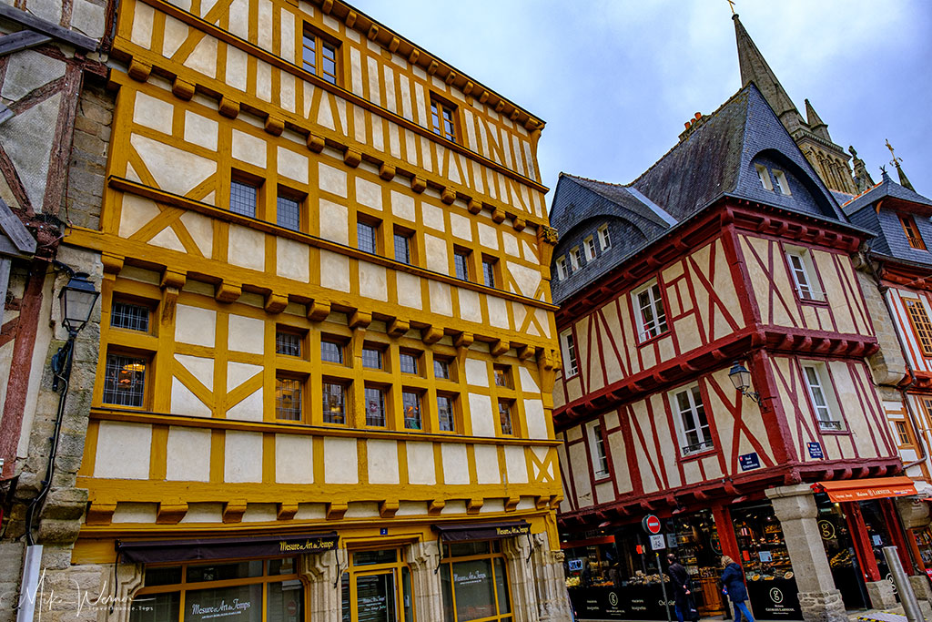 Wooden houses in Vannes, Brittany