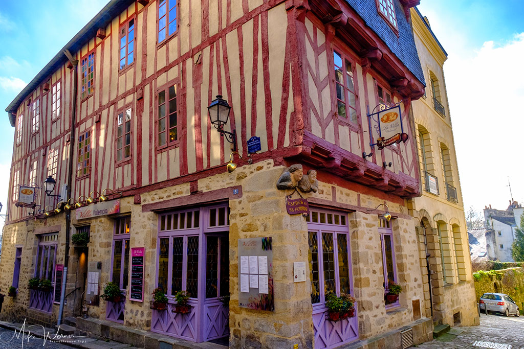 Restaurant in a wooden house in Vannes, Brittany