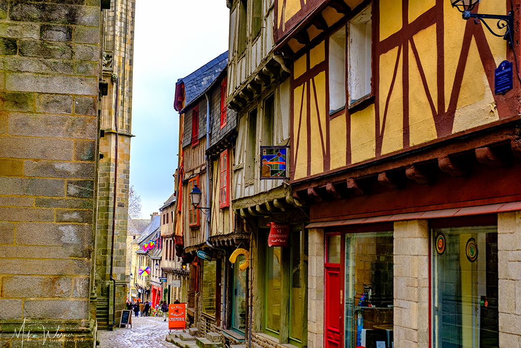 Cobblestone streets in Vannes, Brittany