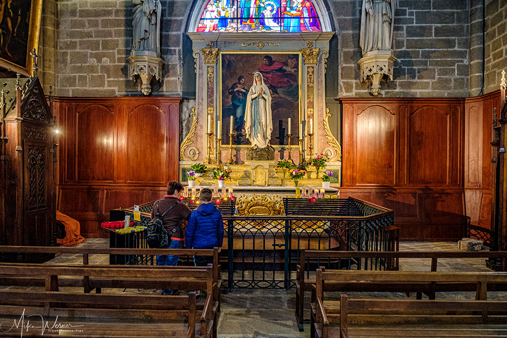 Larger chapel in the Saint Pierre cathedral of Vannes, Brittany