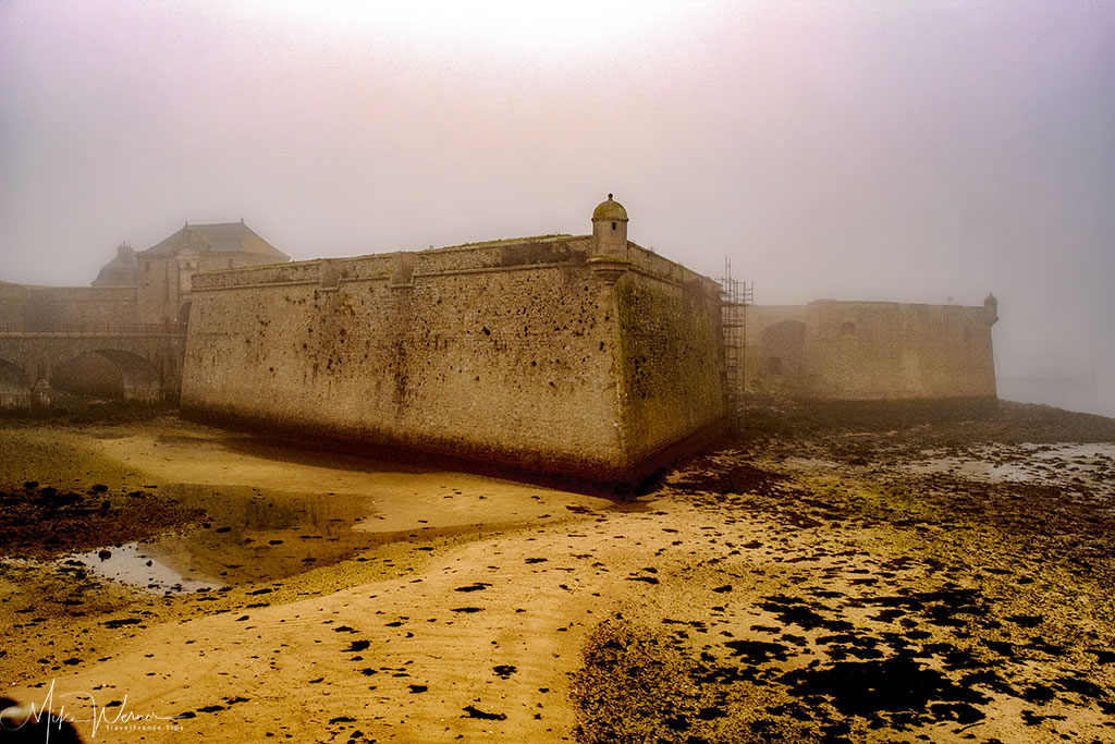 The tall walls of the citadel of Port-Louis, Brittany