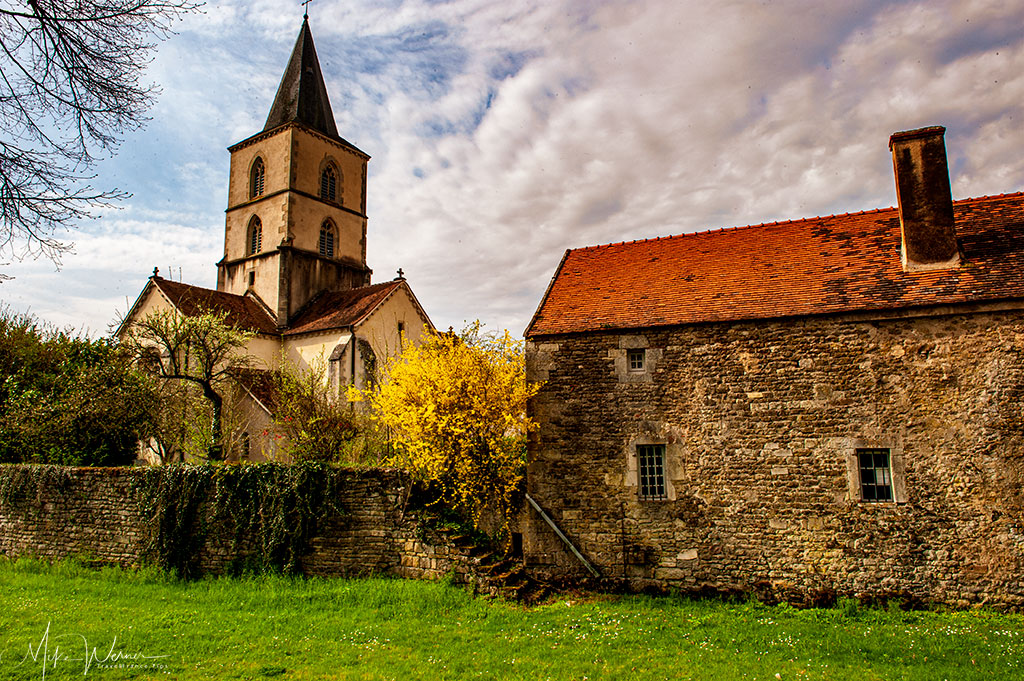 The Epoisse church, formerly belonging to the castle of Epoisse in Burgundy