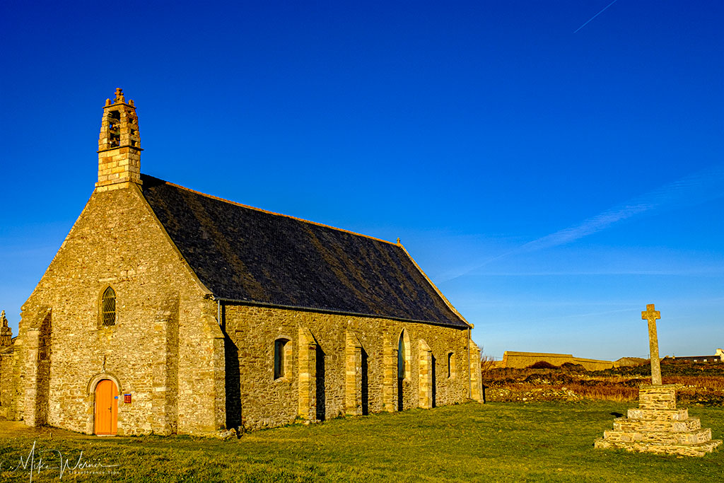 The Notre-Dame-de-Grace chapel at Pointe Saint-Mathieu in Brittany