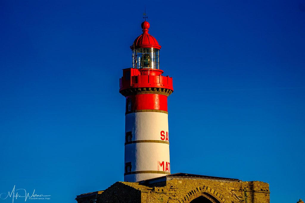 The top of the lighthouse at Pointe Saint-Mathieu in Brittany