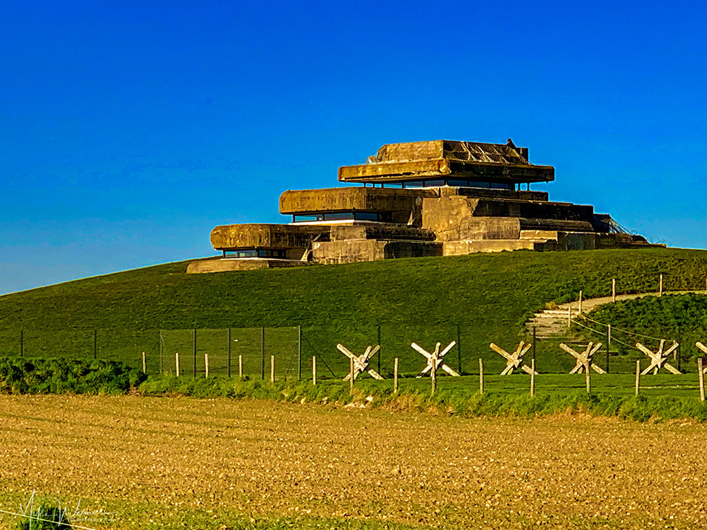 """German WWII bunker and the """"Musee Memoires 39-45"""" at Pointe Saint-Mathieu"""