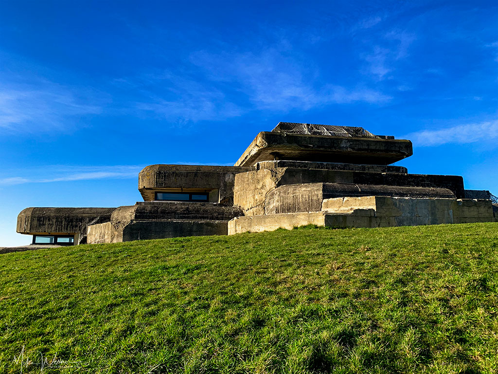 The WWII German bunker at the 39-45 Memories Museum at Pointe Saint-Mathieu in Brittany