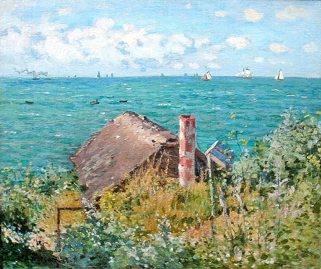 1867 Claude Monet - The Cabin at Sainte-Adresse