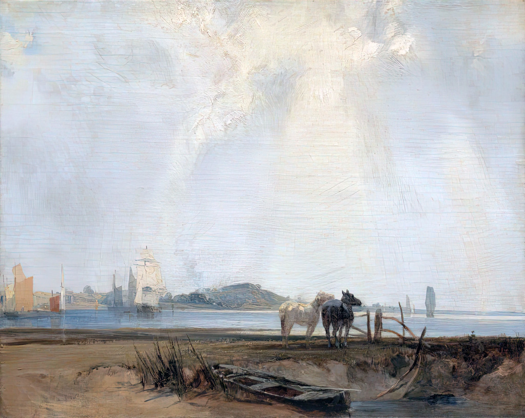 1824 - Bonington - Near Quillebeuf