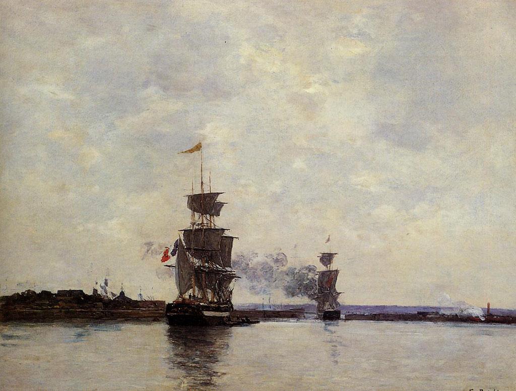 1865 Eugene Boudin - Le Havre, the Outer Harbor