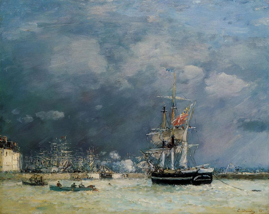 1866 Eugene Boudin - Evening