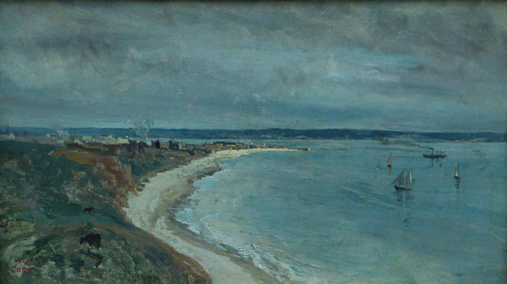 1933 - Jean-Baptiste Camille Corot - View of the Sea from Haut des Falaises