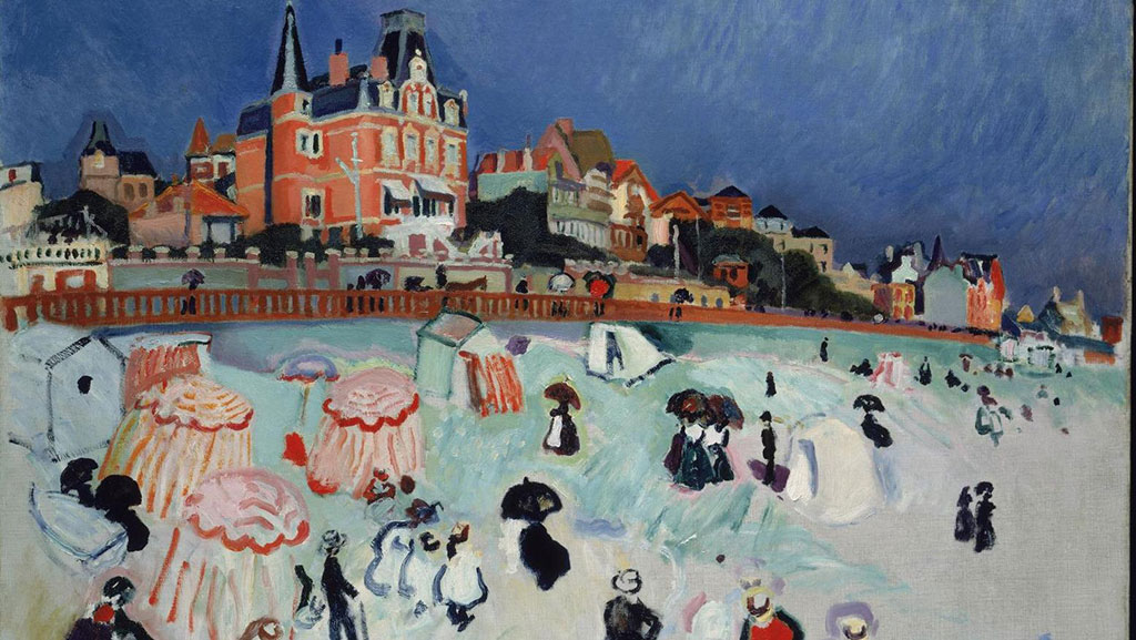 1906 Raoul Dufy - The Beach at Le Havre