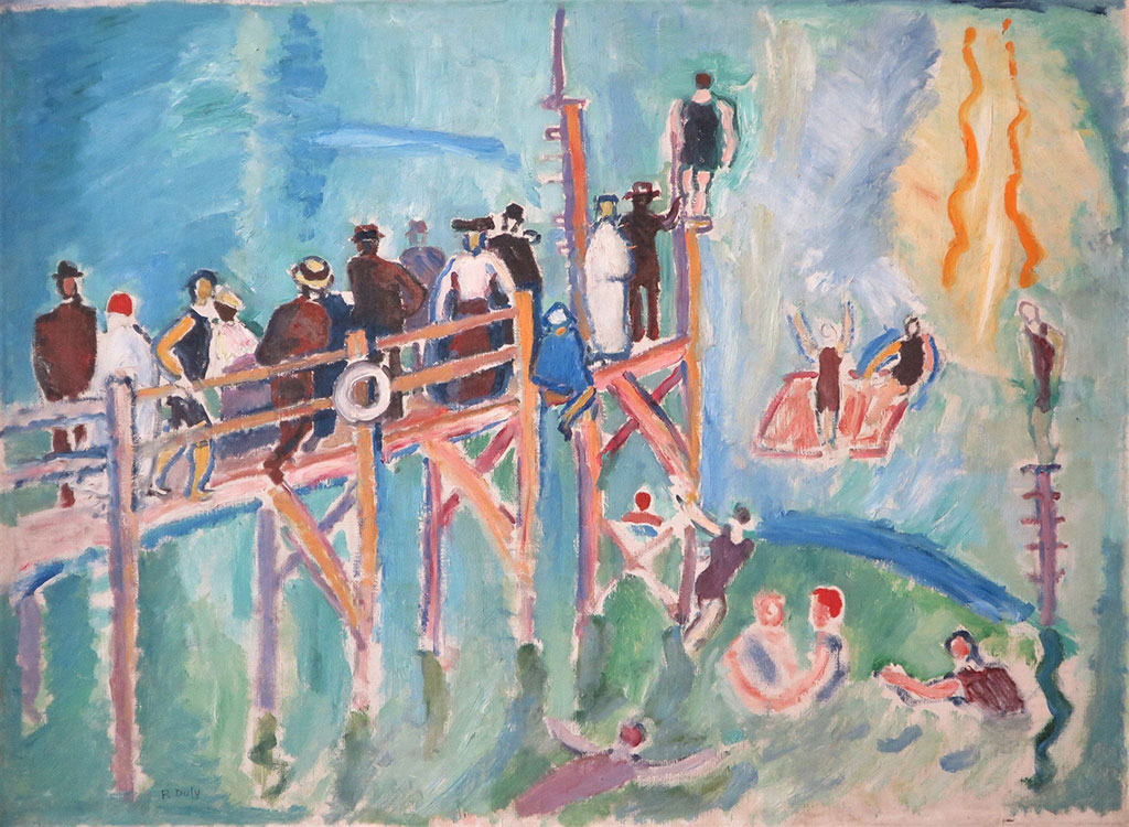 1906 Raoul Dufy - The Effect of Sunlight on the Water at Sainte-Adresse