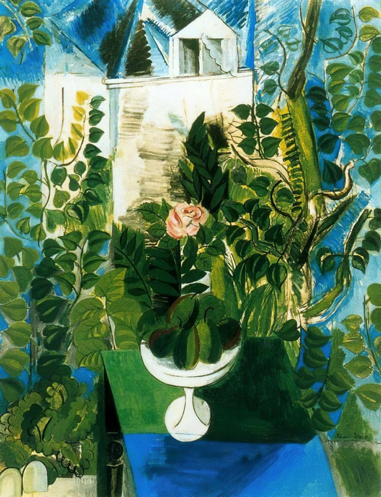 1915 Raoul Dufy - House and Garden at Le Havre