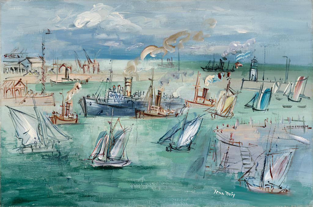 1937 Jean Dufy - The Basin de la Manche at Le Havre