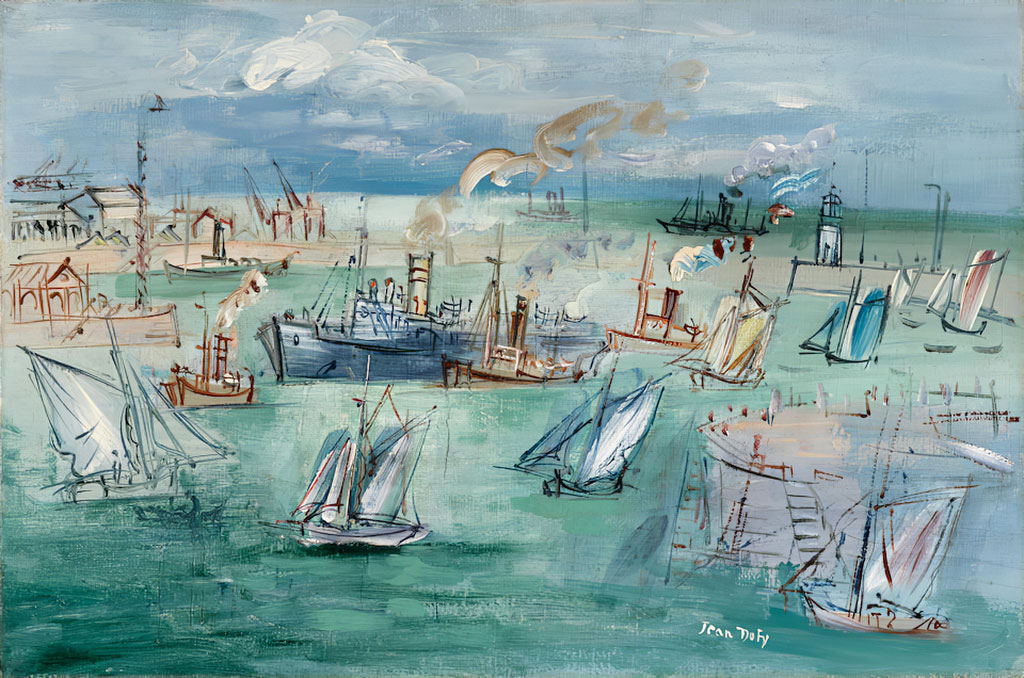 1937 Jean Dufy - The Basin de la Manche at Le Havre