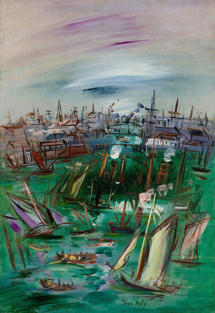 ???? Jean Dufy - The Basin de la Manche at Le Havre