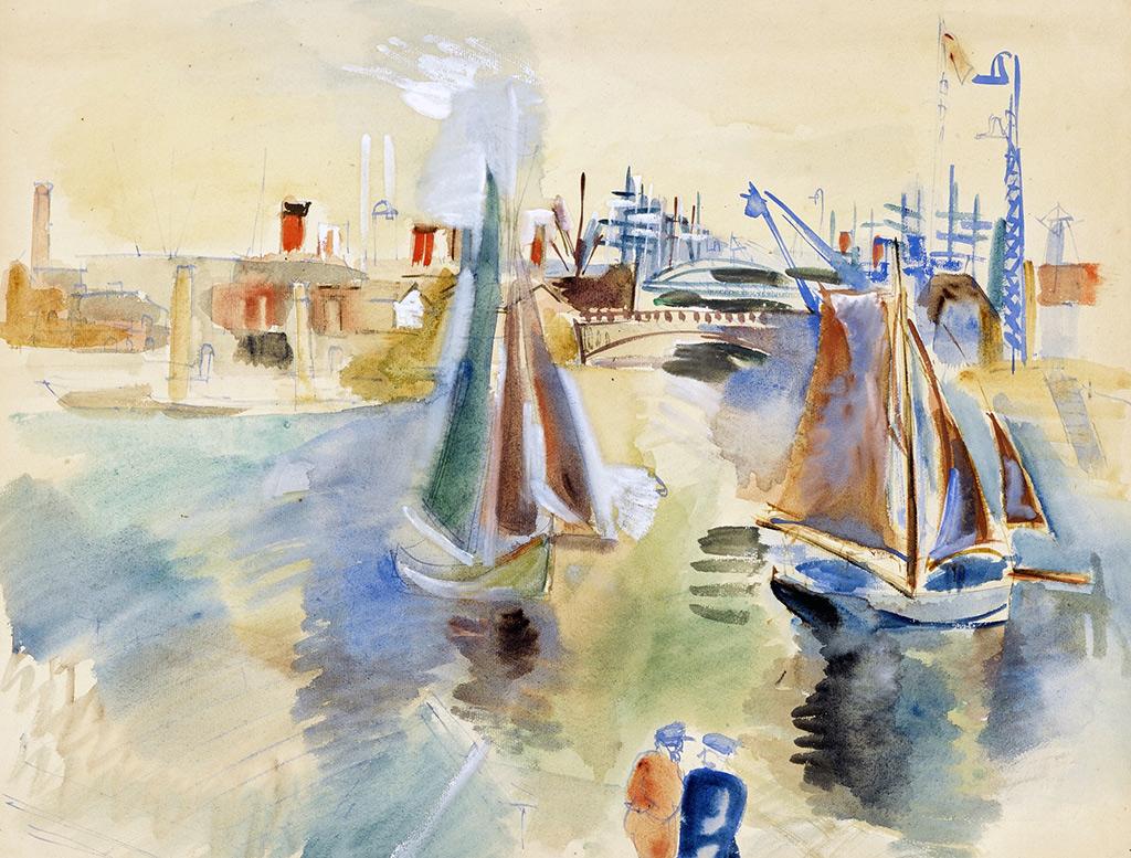 ???? Jean Dufy - The de la Manche Basin at Le Havre